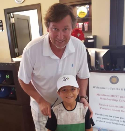 Teo Davidov and Wayne Gretzky
