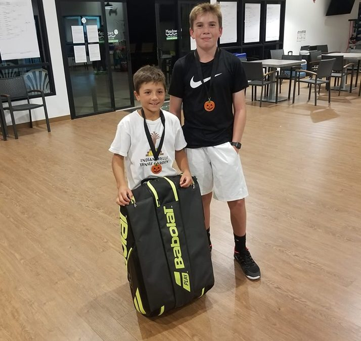 Teo Wins Colorado 14 & Under Pumpkin Tennis Tournament at 9 Years Old