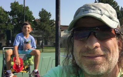 Teo Davidov and Rich Benvin Tennis Practice Session